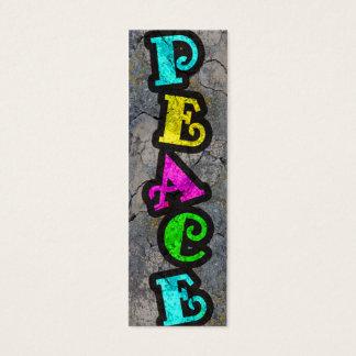Peace Bookmarks Mini Business Card