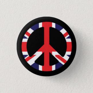 Peace British 1 Inch Round Button