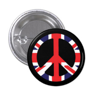 Peace British 1 Inch Round Button
