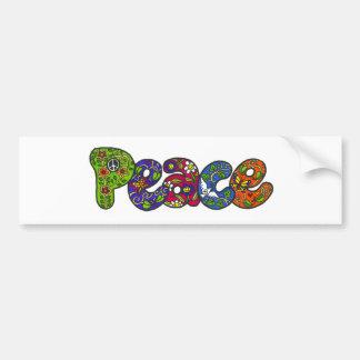 Peace Bumpersticker Bumper Sticker