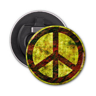Peace Button Bottle Opener