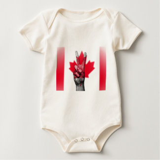 Peace Canada Flag Canadian Parliament Government Baby Bodysuit