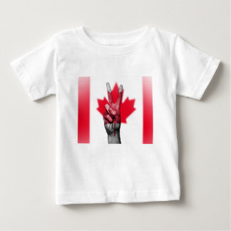 Peace Canada Flag Canadian Parliament Government Baby T-Shirt