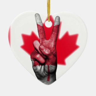 Peace Canada Flag Canadian Parliament Government Ceramic Ornament
