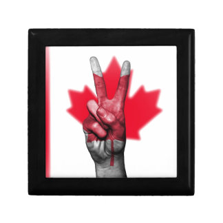 Peace Canada Flag Canadian Parliament Government Gift Box