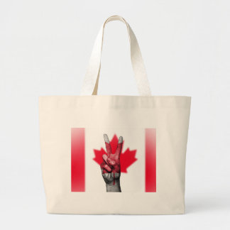 Peace Canada Flag Canadian Parliament Government Large Tote Bag