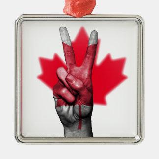 Peace Canada Flag Canadian Parliament Government Metal Ornament