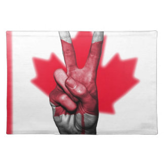 Peace Canada Flag Canadian Parliament Government Placemat