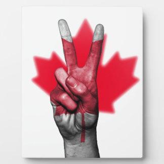 Peace Canada Flag Canadian Parliament Government Plaque