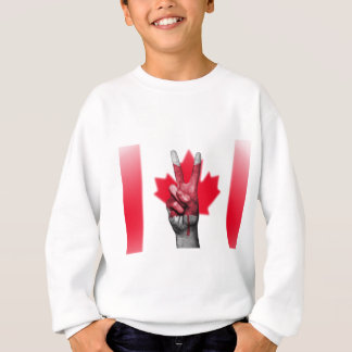 Peace Canada Flag Canadian Parliament Government Sweatshirt
