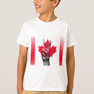 Peace Canada Flag Canadian Parliament Government T-Shirt