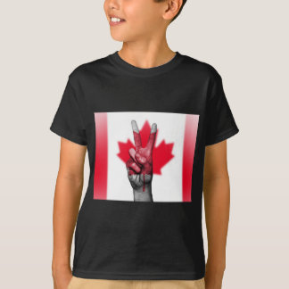 Peace Canada Flag Canadian Parliament Government T-Shirt