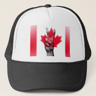 Peace Canada Flag Canadian Parliament Government Trucker Hat