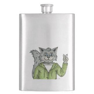 Peace Cat Flask