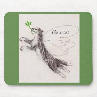 peace cat mouse pad