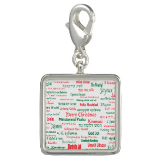 Peace Coexist Happy Merry Christmas Many Languages Charms
