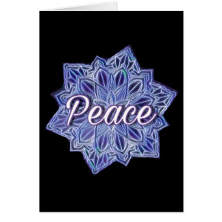 Peace colourful mandala card