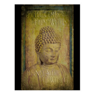 Peace Comes from Within Buddha Quote Postcard