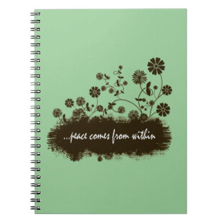 Peace comes from within spiral bound notebook
