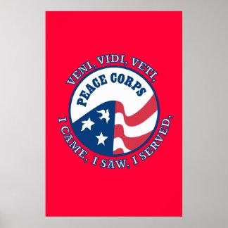 Peace Corps Logo VVV Poster