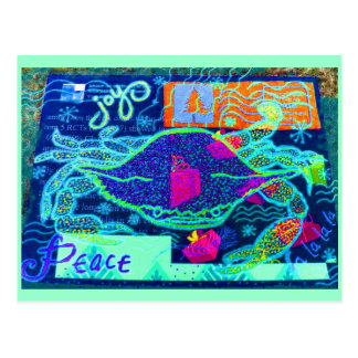 Peace Crab Collage Postcard