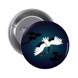 Peace Crane 2 Inch Round Button