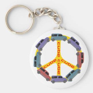 Peace Cube Key Chain