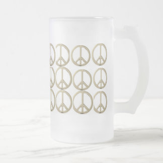 PEACE CUP - Customized 16 Oz Frosted Glass Beer Mug