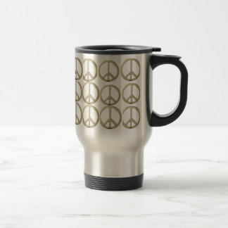 PEACE CUP STAINLESS STEEL TRAVEL MUG