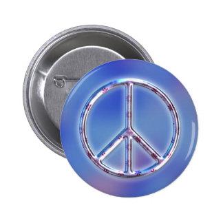 Peace Design 2 2 Inch Round Button