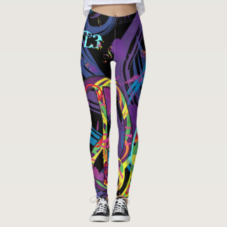 Peace design (Purple) Leggings