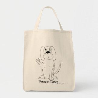 Peace Dog Tote Bag