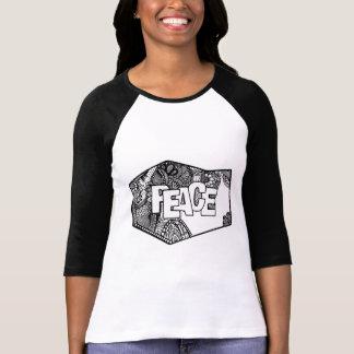 Peace doodle original design, Raglan T-Shirt