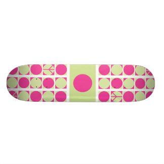 Peace Dots (p/g) Custom Skate Board