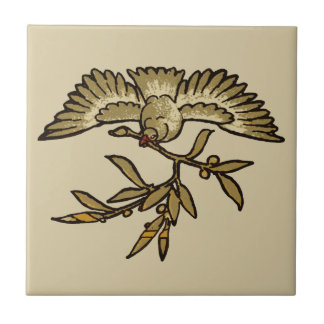 Peace Dove Antique Tile