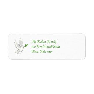 Peace Dove Avery Label