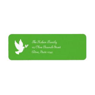 Peace Dove Avery Label Return Address Label
