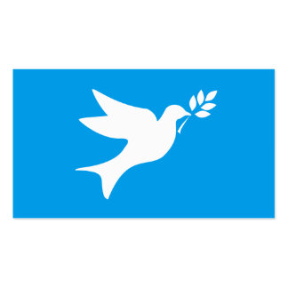 Peace Dove Double-Sided Standard Business Cards (Pack Of 100)