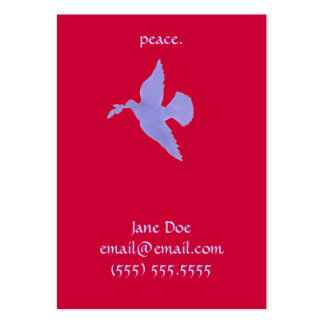 Peace Dove Calling Card Large Business Cards (Pack Of 100)