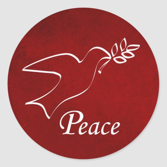Peace Dove Classic Round Sticker