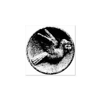 Peace Dove Engraved Rubber Stamp