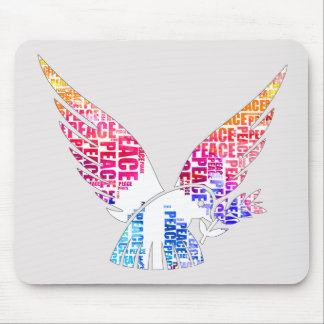 Peace Dove. Harmony Hippie Watercolor Mouse Pad