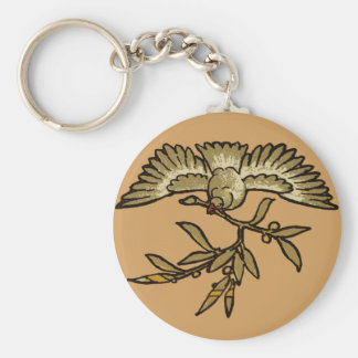 Peace Dove Olive Branch Keychain
