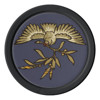 Peace Dove Olive Branch Poker Chips
