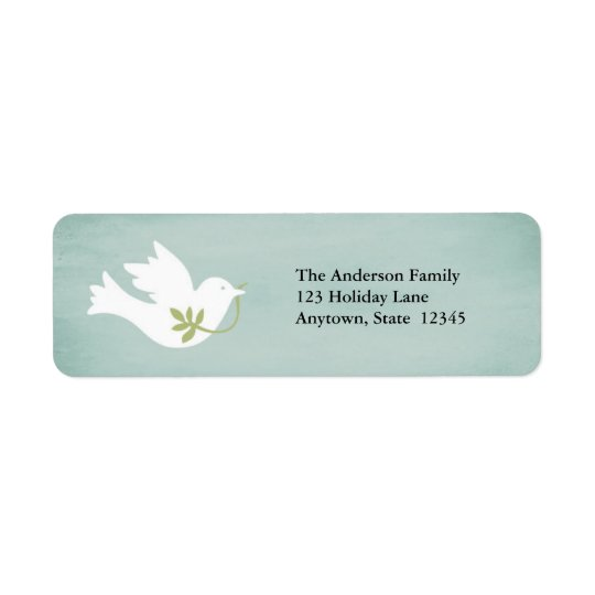 Peace Dove Return Address Labels