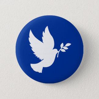 Peace Dove Silhouette 2 Inch Round Button