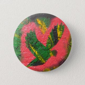 Peace Dove Stencil 2 Inch Round Button
