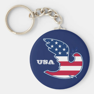 Peace Dove. USA Patriotic design Gift Keychains