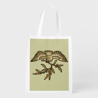 Peace Dove Vintage Reusable Grocery Bag