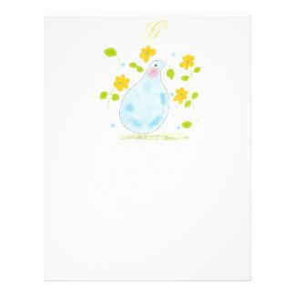Peace Dove with butterfly and flowers Letterhead